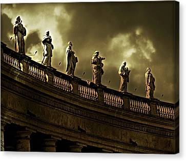 Canvas Print featuring the photograph The Saints  by Micki Findlay