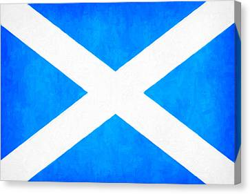 The Saltire - Scotland's National Flag Canvas Print by Mark E Tisdale