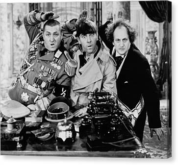 The Salute Canvas Print by The Three Stooges