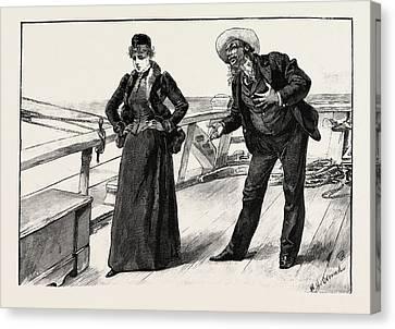 The Samaritan Is Still On Board Canvas Print by Overend, William Heysham (1851-1898), British