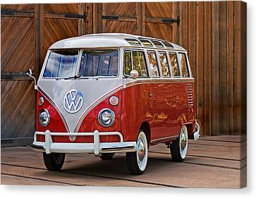 Volkswagon Canvas Print - The Samba by Peter Tellone