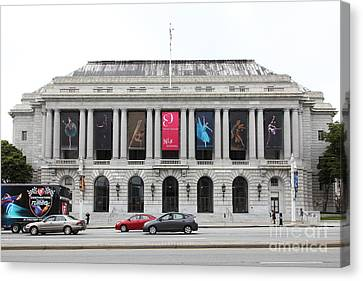The San Francisco War Memorial Opera House - San Francisco Ballet 5d22478 Canvas Print by Wingsdomain Art and Photography