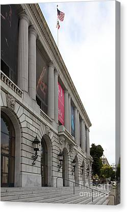 The San Francisco War Memorial Opera House - San Francisco Ballet 5d22585 Canvas Print by Wingsdomain Art and Photography