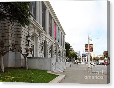 The San Francisco War Memorial Opera House - San Francisco Ballet 5d22586 Canvas Print by Wingsdomain Art and Photography