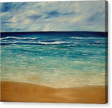 The Sand And The Tide Canvas Print by Lisa Aerts