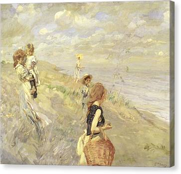 The Sand Dunes Canvas Print by Ettore Tito