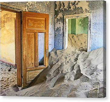 Panel Door Canvas Print - The Sands Of Time by Timm Chapman