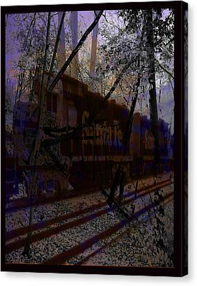 Canvas Print featuring the digital art The Santa Fe by Cathy Anderson