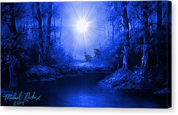 The Sapphire Forest Canvas Print