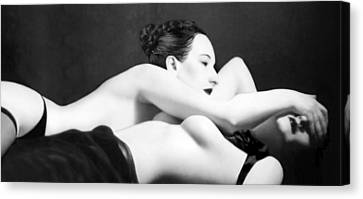 The Satin Seduction Canvas Print by Jaeda DeWalt