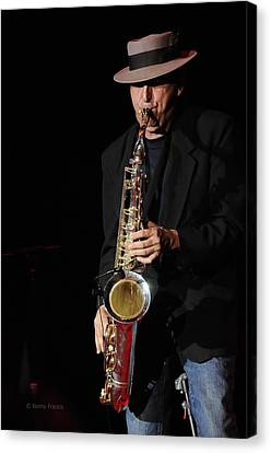 The Sax Man Canvas Print by Kenny Francis