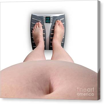 The Scale Says Series Fat Ass Canvas Print by Amy Cicconi