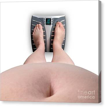 The Scale Says Series Ur Fat Canvas Print by Amy Cicconi