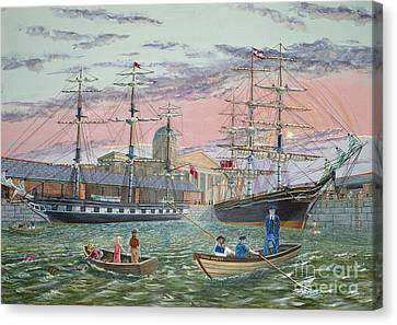 The Scamps Of Canning Dock Canvas Print