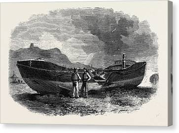 The Scarborough Life Boat After The Storm Canvas Print by English School
