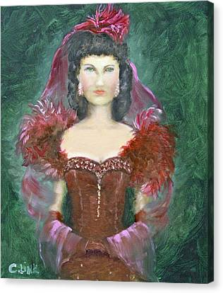 The Scarlet Dress Canvas Print