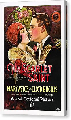 The Scarlet Saint, From Left Mary Canvas Print