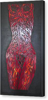 The Scarlet Woman Canvas Print by Alison Edwards