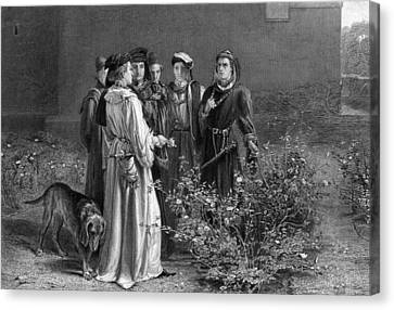 The Scene In The Temple Garden From Henry Vi Canvas Print by MotionAge Designs