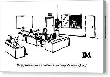 Disease Canvas Print - The Scene Is A Doctor's Waiting Room. People by Drew Dernavich