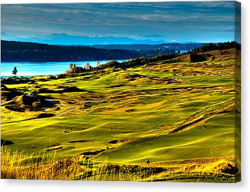 The Scenic Chambers Bay Golf Course - Location Of The 2015 U.s. Open Tournament Canvas Print by David Patterson