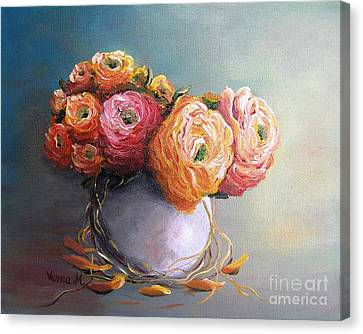 Canvas Print featuring the painting The Scent Of Flowers by Vesna Martinjak