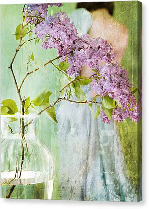 The Scent Of Lilacs Canvas Print by Theresa Tahara