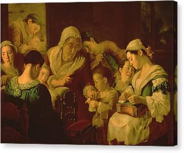 The School Of Needlework, 1751-52 Canvas Print