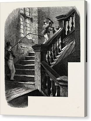 The School Staircase, Eton, Uk Canvas Print by English School