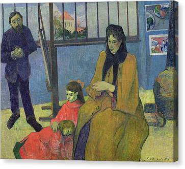 The Schuffenecker Family, Or Schuffeneckers Studio, 1889 Oil On Canvas Canvas Print by Paul Gauguin