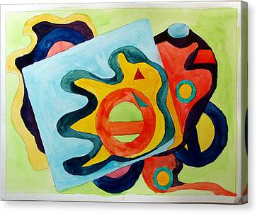 Canvas Print featuring the painting The Science Of Shapes 3 by Esther Newman-Cohen
