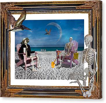 The Scientist's Vacation Canvas Print by Betsy Knapp