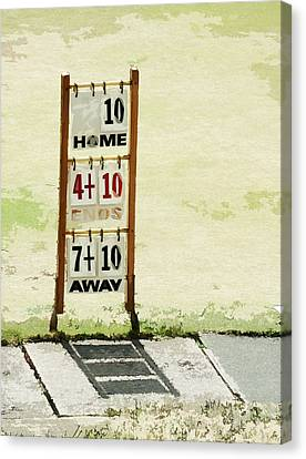 The Score Board Canvas Print by Steve Taylor