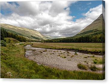 Canvas Print featuring the photograph The Scotish Landscape by Sergey Simanovsky