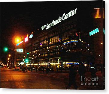 Canvas Print featuring the photograph The Scott Trade Center by Kelly Awad