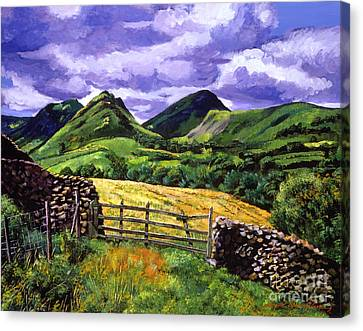 The Scottish Highlands Canvas Print by David Lloyd Glover