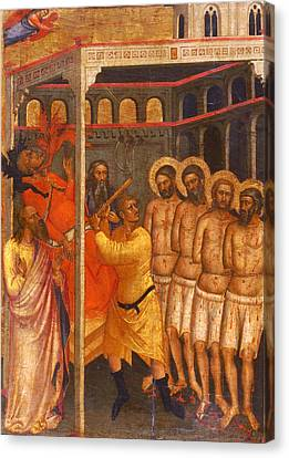 The Scourging Of The Four Crowned Martyrs Canvas Print
