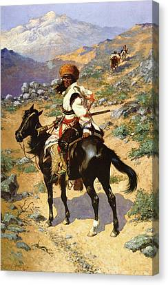 The Scout Friends Or Enemies Canvas Print by Frederic Remington