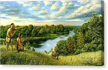 The Scouting Party Canvas Print