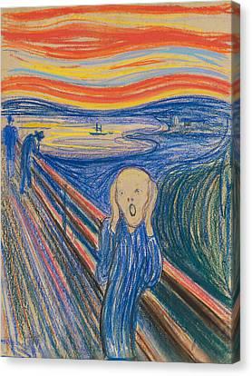 The Scream Canvas Print by Edvard Munch