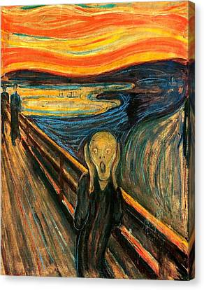 Cardboard Canvas Print - The Scream Edvard Munch 1893                    by Movie Poster Prints