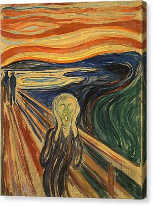 The Scream Edvard Munch 1910 Canvas Print by Movie Poster Prints