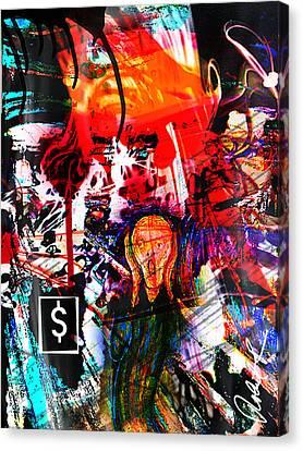 The Scream Flat Broke 2012 - Huge Signed Art Abstract Paintings Modern Www.splashyartist.com Canvas Print