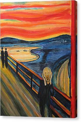 The Scream Canvas Print by Nirdesha Munasinghe