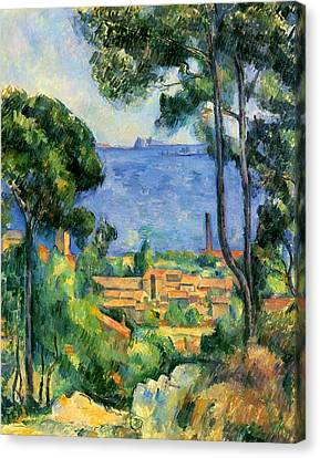 The Sea At The Estaque Canvas Print by Paul Cezanne
