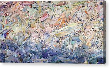 Stained Glass Canvas Print - Fragmented Sea by James W Johnson