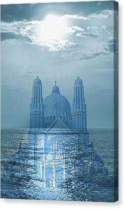 The Sea Church Canvas Print by Angel Jesus De la Fuente