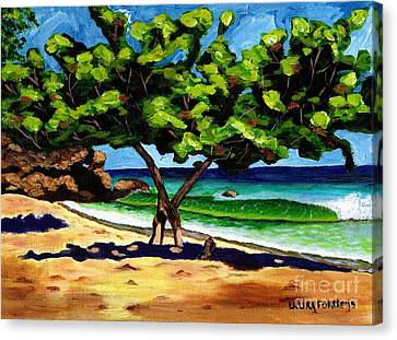 Canvas Print featuring the painting The Sea-grape Tree by Laura Forde