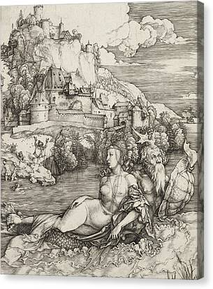 The Sea Monster Canvas Print by Albrecht Durer or Duerer