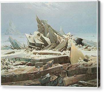 The Sea Of Ice Canvas Print by Caspar David Friedrich